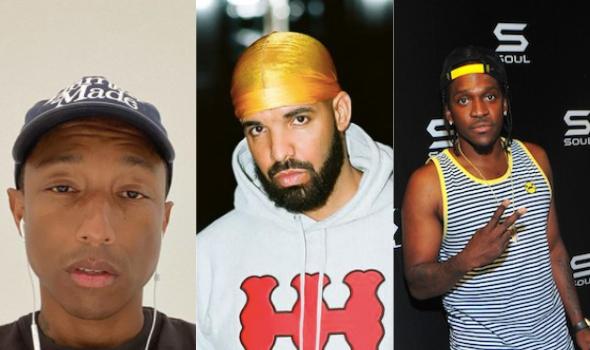 Pharrell Says Drake & Pusha T's Feud 'Still Breaks My Heart'