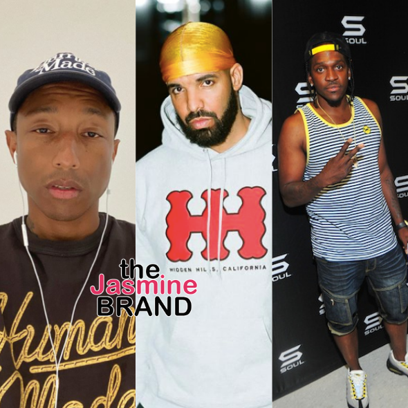Pharrell Says Drake & Pusha T's Feud 'Still Breaks My Heart'