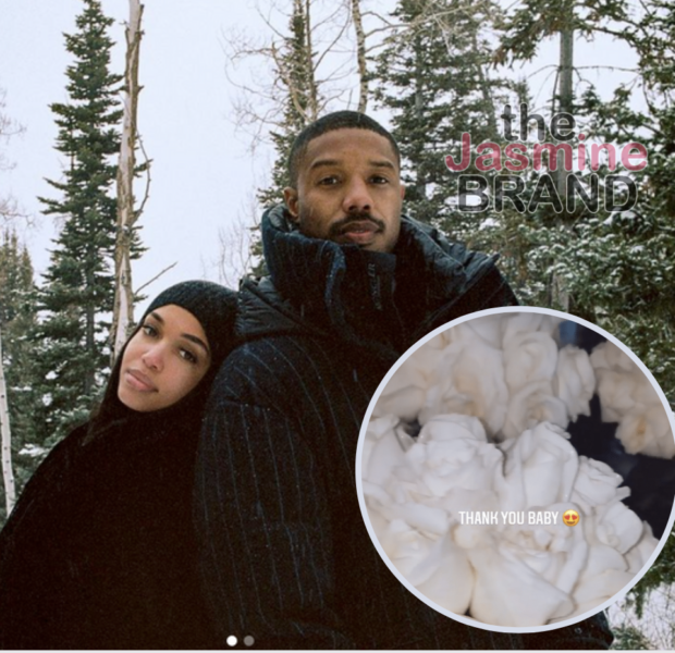 Michael B. Jordan Gifts Girlfriend Lori Harvey With 15 Bouquets Of White Roses For Her Birthday
