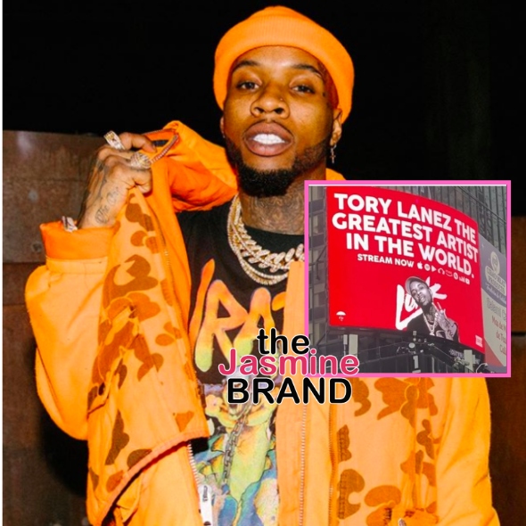 Tory Lanez Takes Out Billboard In Times Square, Calling Himself 'The Greatest Artist In The World' + Says He Wants To Be A Mogul & Role Model