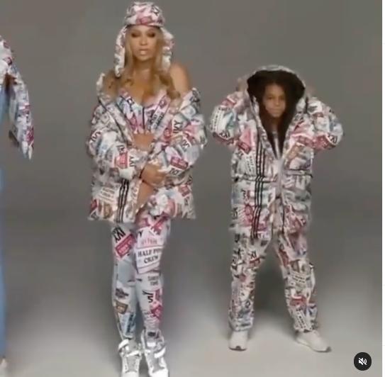 Blue Ivy Models With Mom Beyoncé For Ivy Park Line [VIDEO]