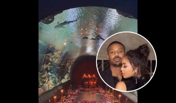 Michael B. Jordan Rented Out An Aquarium For Lori Harvey On Valentine's Day [VIDEO]