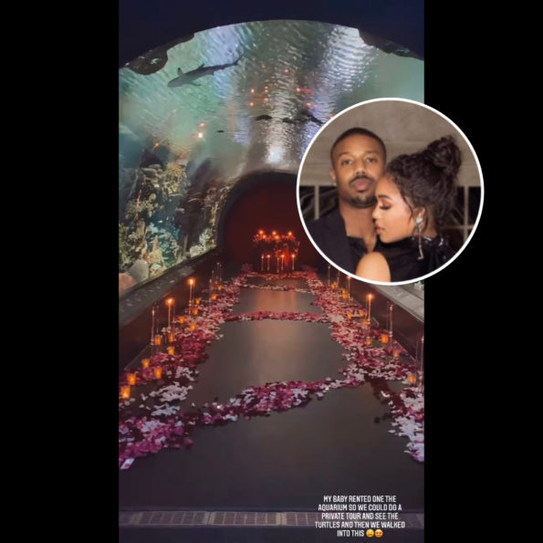 Michael B. Jordan Rented Out An Aquarium For Lori Harvey On Valentine's Day [VIDEO]