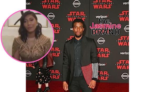 Chadwick Boseman's Widow Taylor Simone Ledward Tearfully Accepts Golden Globe On Late Actor's Behalf