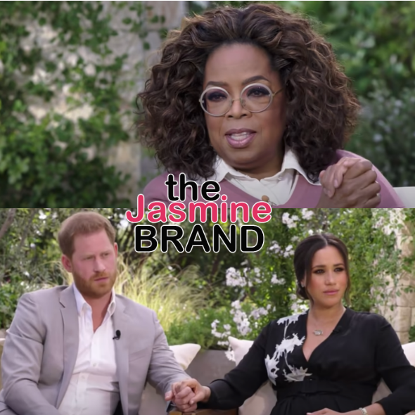 Oprah Says 'Nothing Is Off Limits' In First Look Of Sit Down With Prince Harry & Meghan Markle