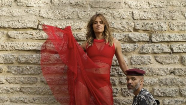 Halle Berry Poses In A Sexy Sheer Red Dress With Boyfriend Van Hunt: This Ain't No Lukewarm Love