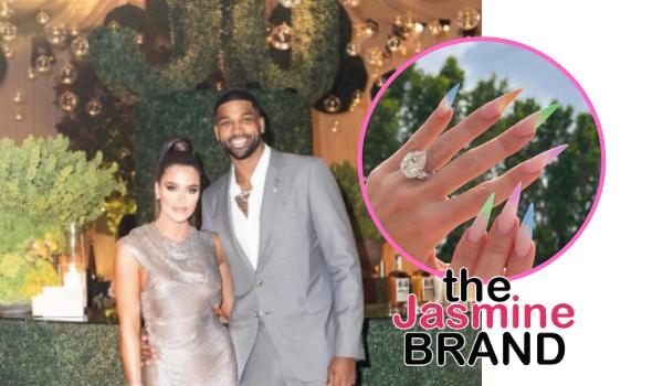 Khloe Kardashian & Tristan Thompson Fuel Engagement Rumors With Massive Ring