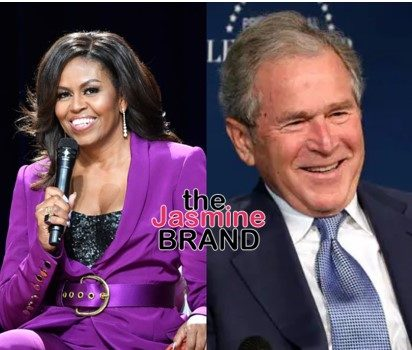 George Bush Swoons Over His Friendship With Michelle Obama, Says They Bond Over Cracking Jokes