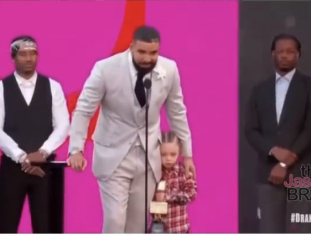Drake Makes Rare Appearance With 3-Year-Old Son Adonis At Billboard Music Awards