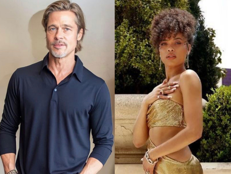 Brad Pitt & Andra Day Possibly Exchanged Numbers Backstage At The Oscars, Source Claims 'Andra Has Been On Brad's Radar For A While'