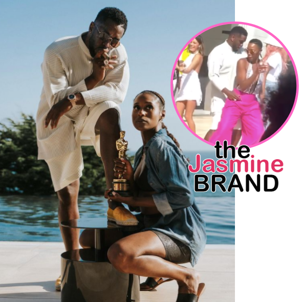 Diddy & Issa Rae Co-Host Star-Studded Memorial Day Party + Diddy Spotted Dancing Extra Close To Actress Yvonne Orji