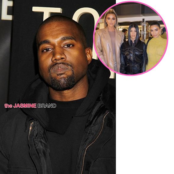 Kanye West Unfollows Kim Kardashian & Her Sisters On Twitter