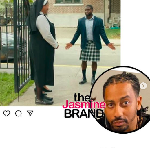 Kevin Hart Called Out By Actor Brandon T. Jackson For Wearing Skirt In 'Fatherhood' Film: You're Gonna Have To Sit Down In The Spiritual Penalty Box