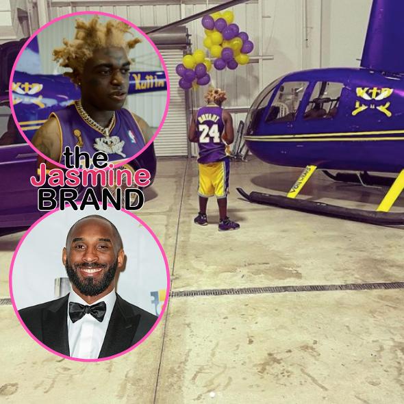 Kodak Black Faces Backlash For Celebrating Birthday With Lakers-Themed Helicopter: I'm Ouchea, I'm Like Kobe