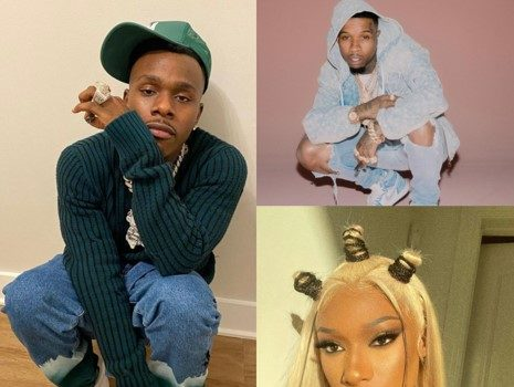 DaBaby Brings Out Tory Lanez For Performance Following Megan Thee Stallion's Set At Rolling Loud + Gets Shoe Thrown At Him While On Stage