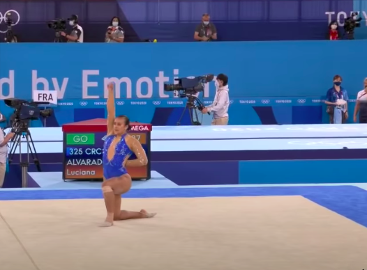 Costa Rican Gymnast Luciana Alvarado Takes Knee, Raises Fist To Pay Homage To Black Lives Matter During Olympic Routine