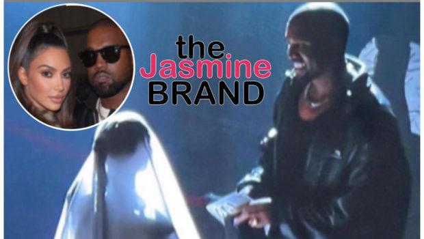 Kanye West & Kim Kardashian Aren't Getting Back Together Despite Her Wearing A Wedding Dress At 'Donda' Event