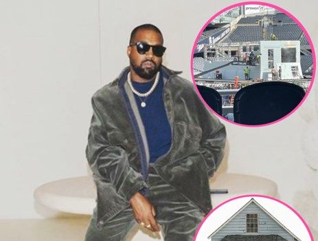 Kanye West Constructs A Replica Of His Childhood Home For Third 'Donda' Listening Event