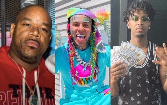 Wack 100 & 6ix9ine Get Into Heated Argument W/ 21 Savage On Clubhouse, Wack 100 Tells 21 Savage: I Will Beat Your Motherf***ing Little A**!