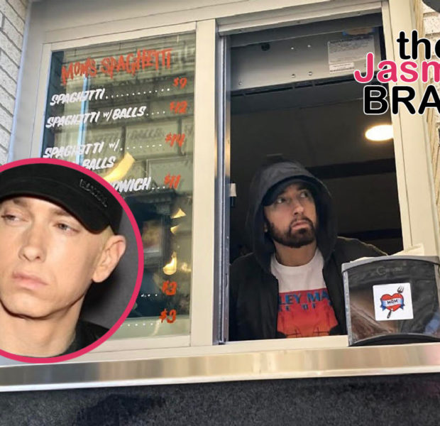 Eminem Surprises Guests At The Grand Opening Of His New Restaurant, Mom's Spaghetti