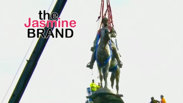 Controversial Statue of Confederate General Robert E. Lee Removed From Monument Avenue In Virginia