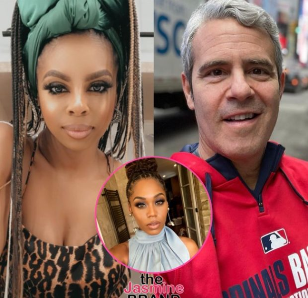 Candiace Dillard Slams Andy Cohen In New 'Housewives' Tell-All For Not Reaching Out After Her Fight W/ Monique Samuels: You're Making Money Off Our Backs & Don't Give A F**k About Us + Later Apologizes