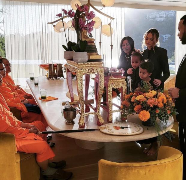 Chrissy Teigen Hopes For 'Closure' As She & John Legend Hold Memorial For Late Son Jack