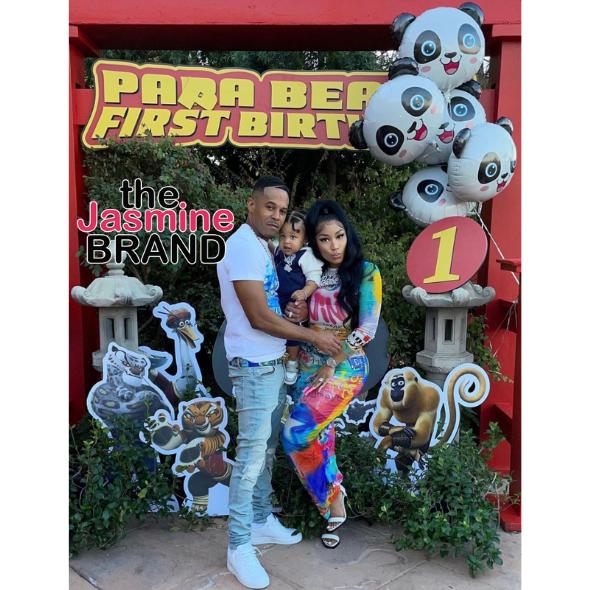 Nicki Minaj & Husband Kenneth Petty Throw 1st Birthday Party For Their Son [PHOTOS]